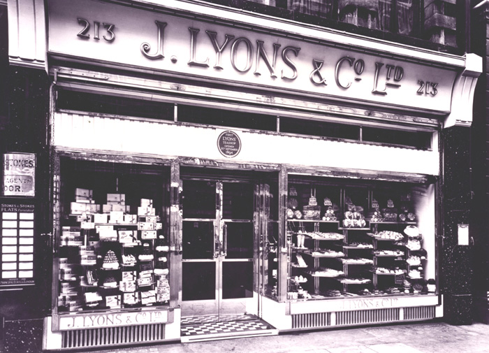 The first Lyons Tea Room was sited at 213 Piccadilly
