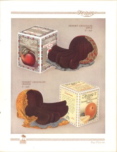 A 1936 brochure advertises the Chocolate Apple and the Chocolate Orange