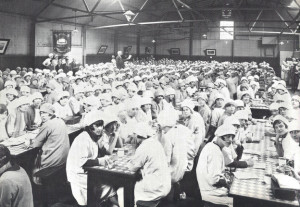 The Greatham factory canteen in 1924