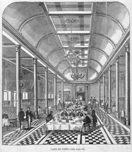 Cafe de Paris, Melbourne, in 1862