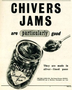 A Chivers jam advertisement from 1952