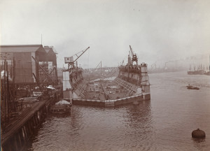 The Swan Hunter yard circa 1900